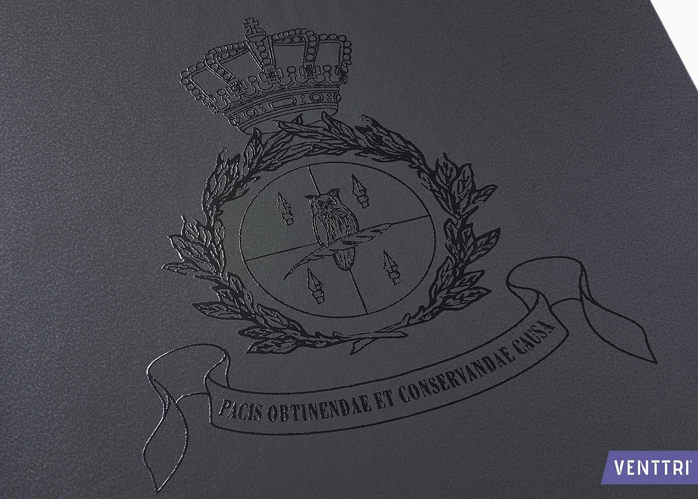 Luxe diplomamap zwart balacron 3